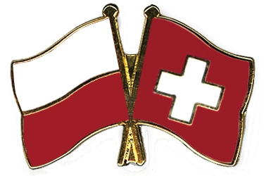 Flag Pins Poland Switzerland